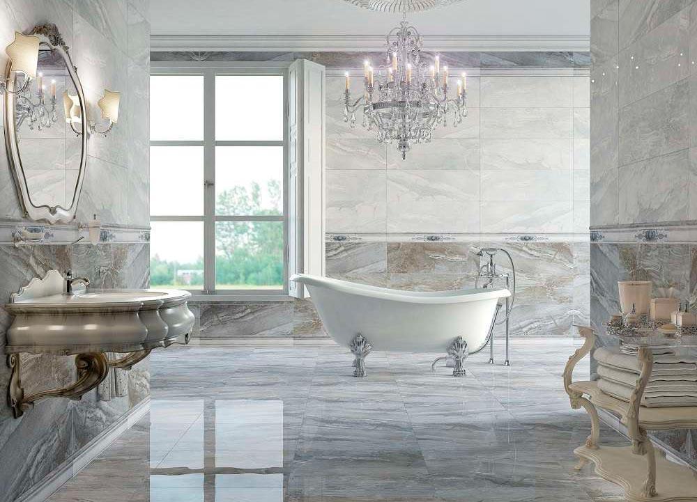 Плитки под мрамор для ванной