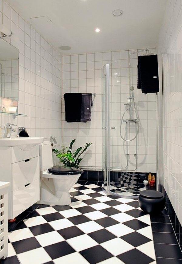 Плюсы и минусы черно-белой ванной комнаты 2