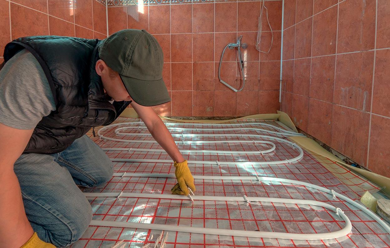 Подготовка перед монтажом водяного теплого пола под плитку