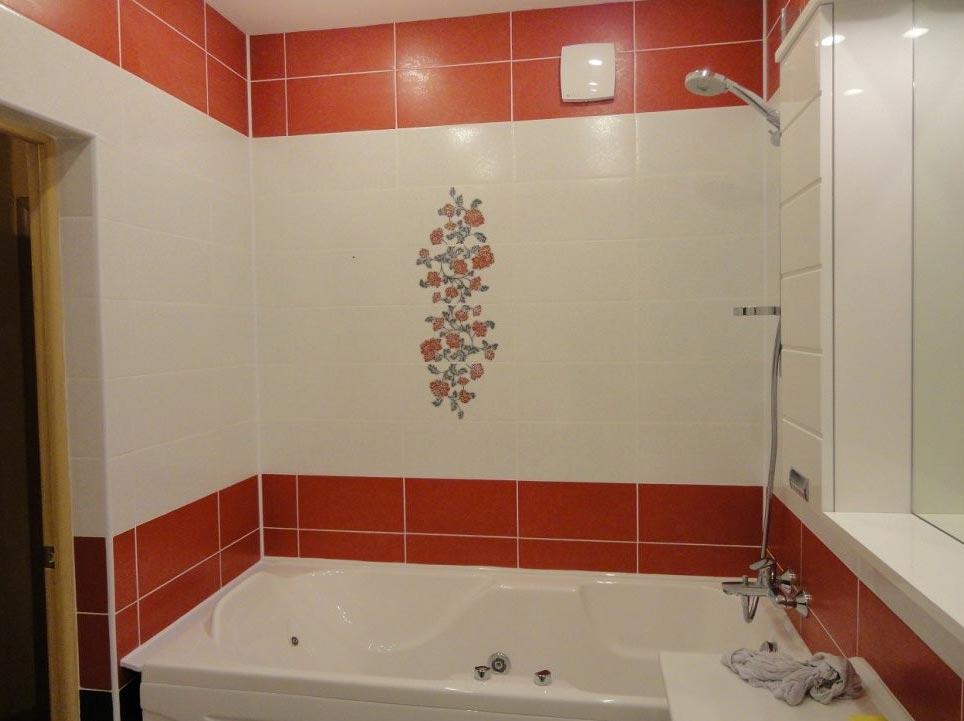 простая укладка плитки в ванной