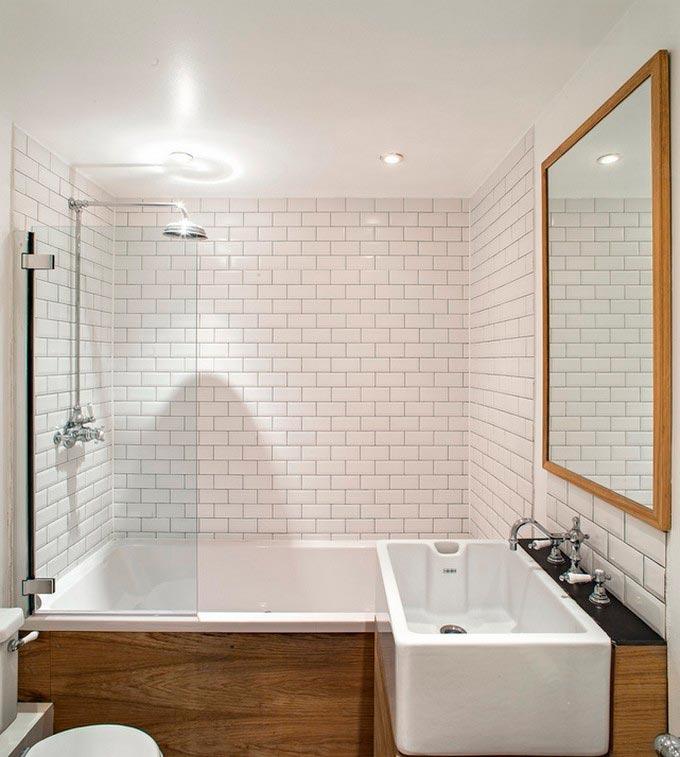Размеры и формы белой плитки для ванны