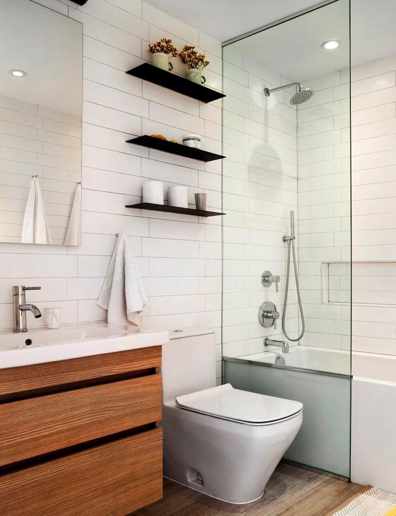 Советы по оформлению ванной белой плиткой 2