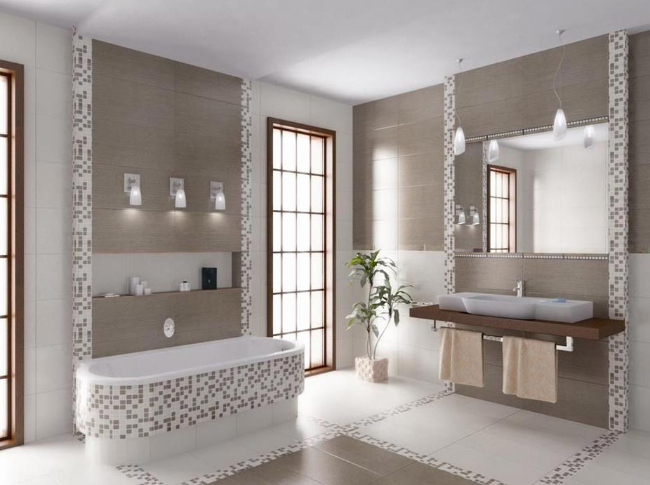 современная ванная комната-дизайн
