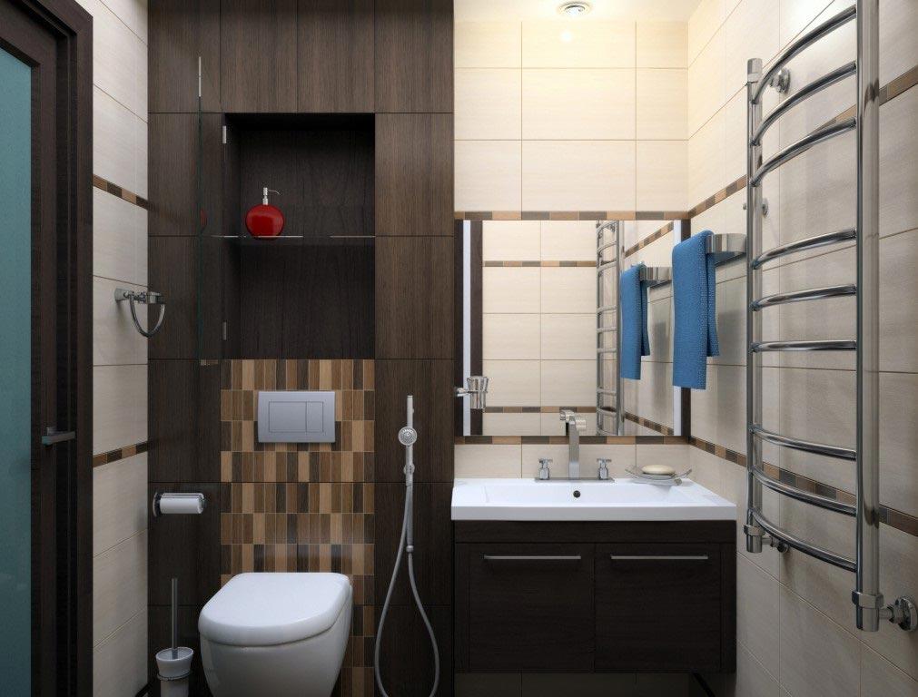 современная ванная в хрущевке