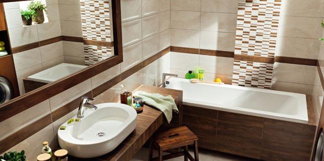 ванная из плитки под дерево-разные варианты