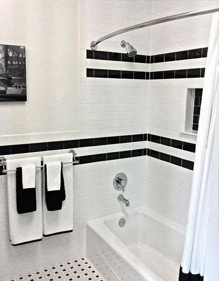 Варианты дизайна черно-белой ванны 63