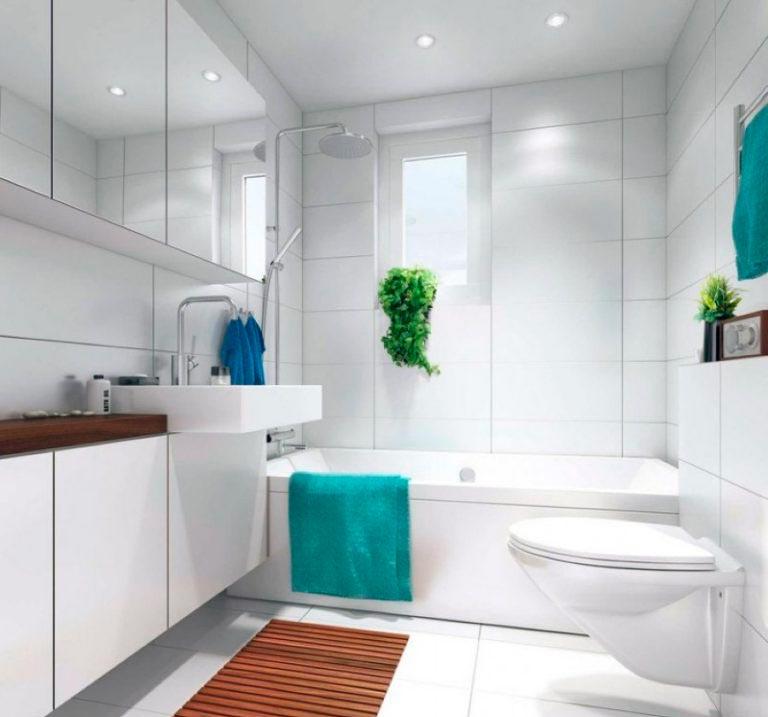 Варианты дизайна ванны с белой плиткой 10
