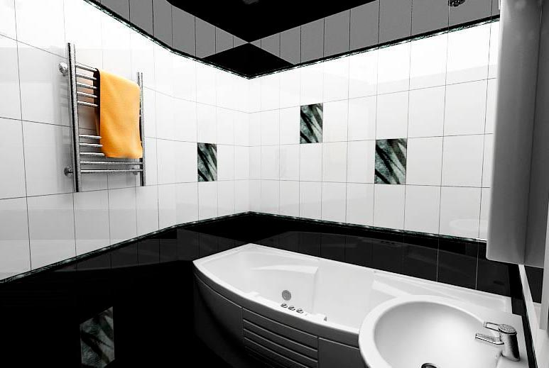 Варианты дизайна ванны с белой плиткой 31