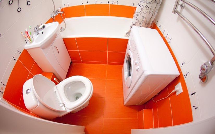 яркая маленькая ванная комната-варианты
