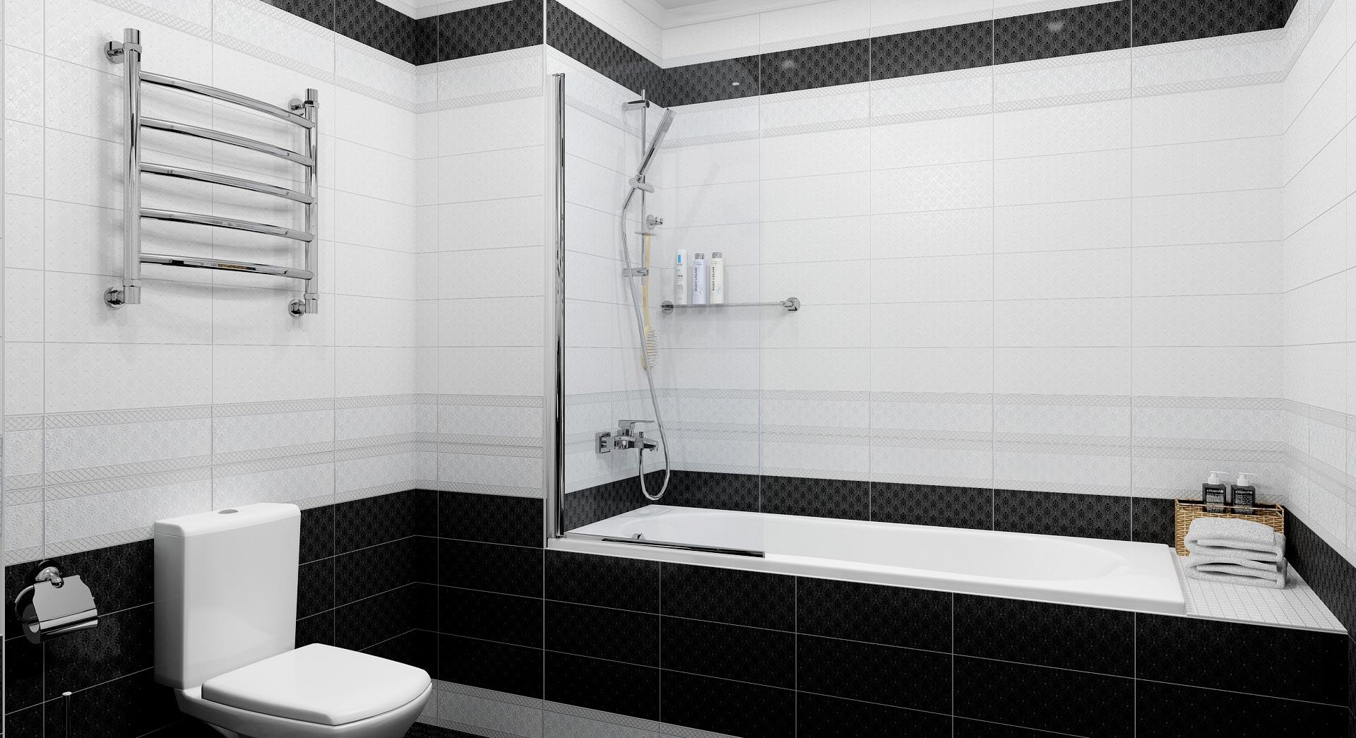 Заключение черно-белая ванна
