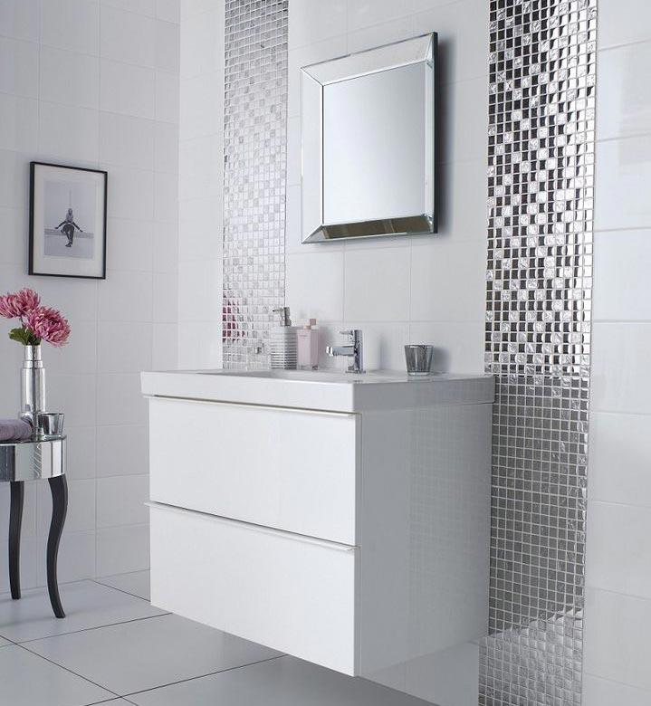 зеркальная мозаика для ванной комнаты