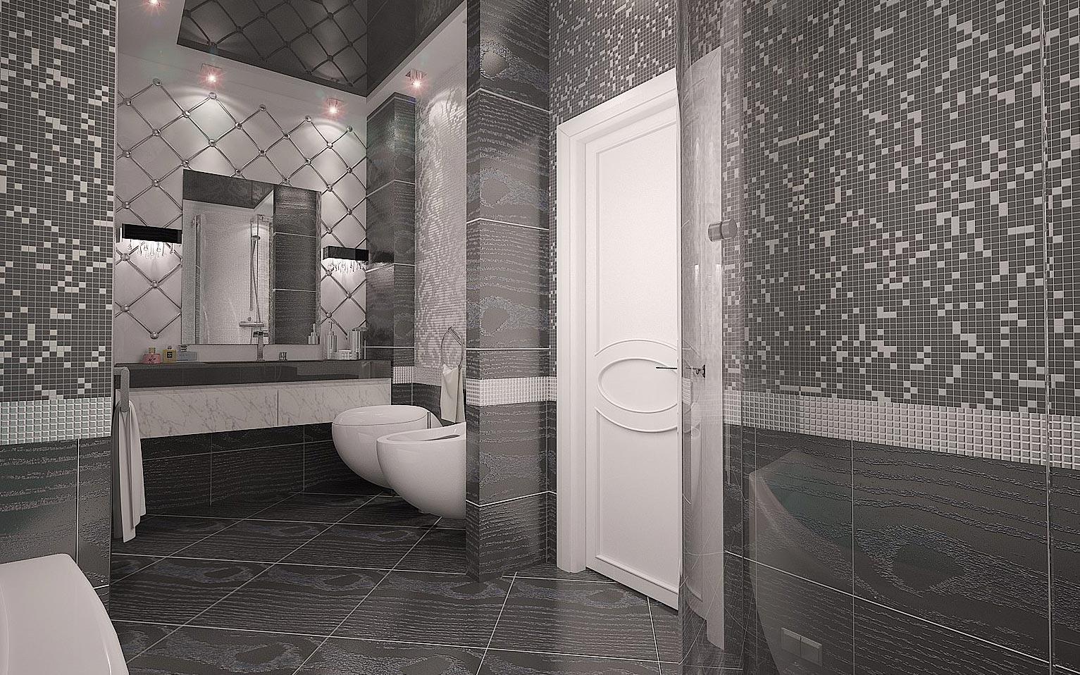зеркальная мозаика для ванной