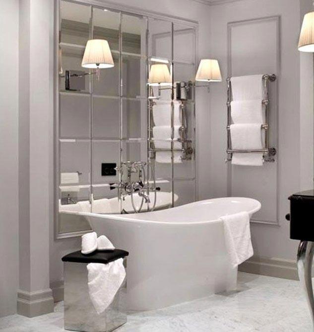 зеркальная плитка для ванной