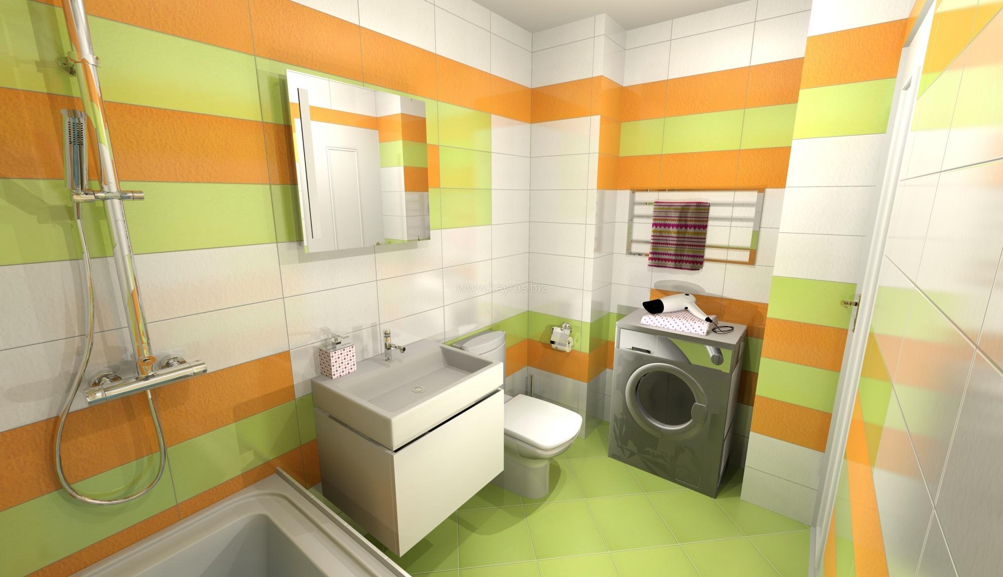 Фьюжн в интерьере ванной комнаты