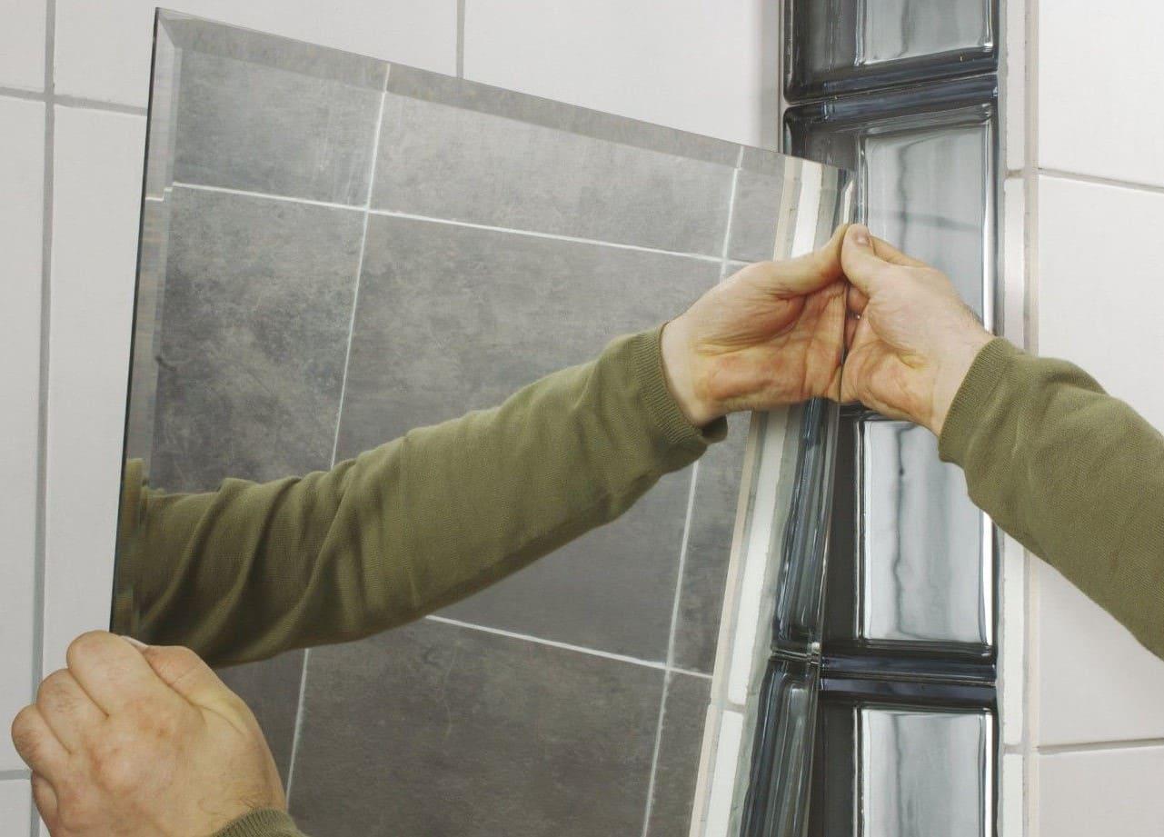 Технология монтажа зеркала