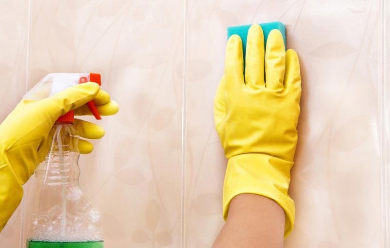 чистка кафеля от грязи на кухне-рекомендации по уходу