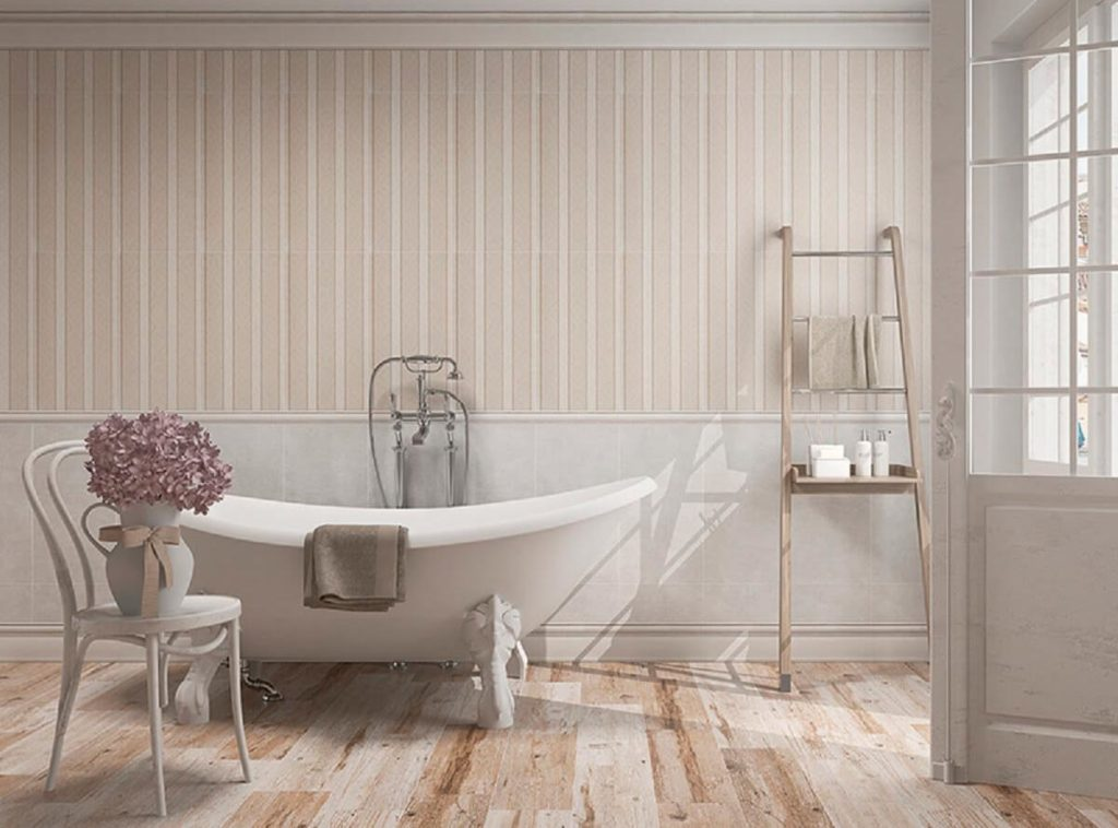 Цветовые решения ванной в стиле шебби-шик 4