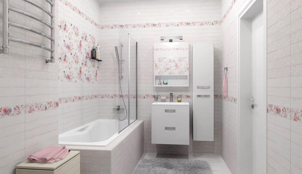 Цветовые решения ванной в стиле шебби-шик 5