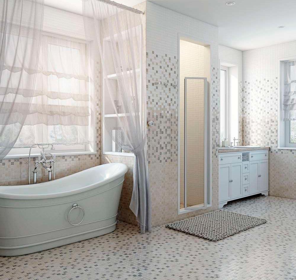 Цветовые решения ванной в стиле шебби-шик 7
