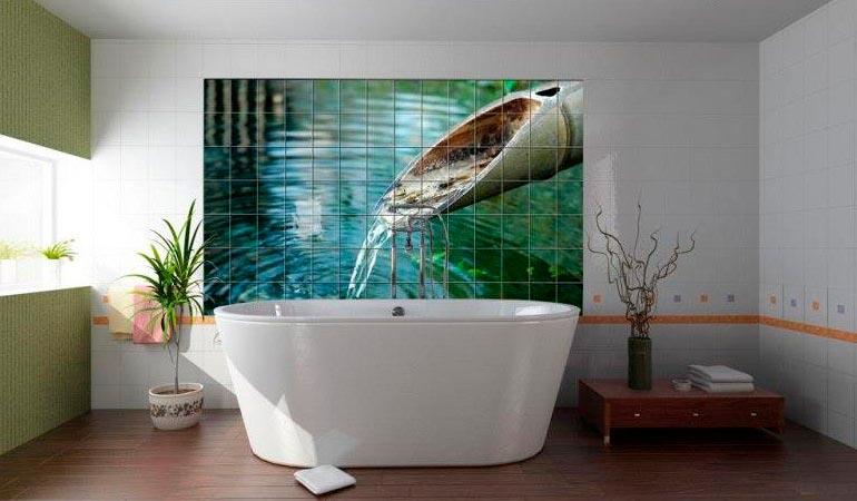 Другие варианты дизайна панно в ванной 17
