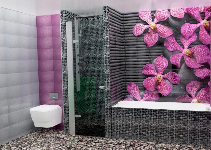 Другие варианты дизайна панно в ванной 18