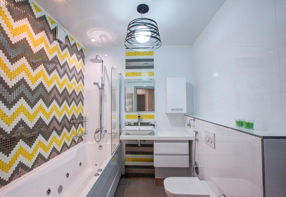 Другие варианты дизайна панно в ванной 2