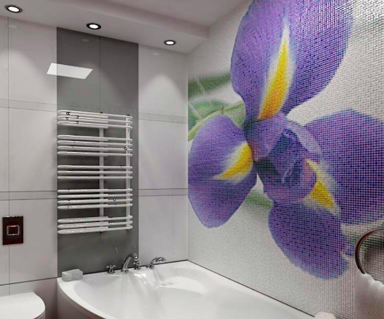 Другие варианты дизайна панно в ванной 22