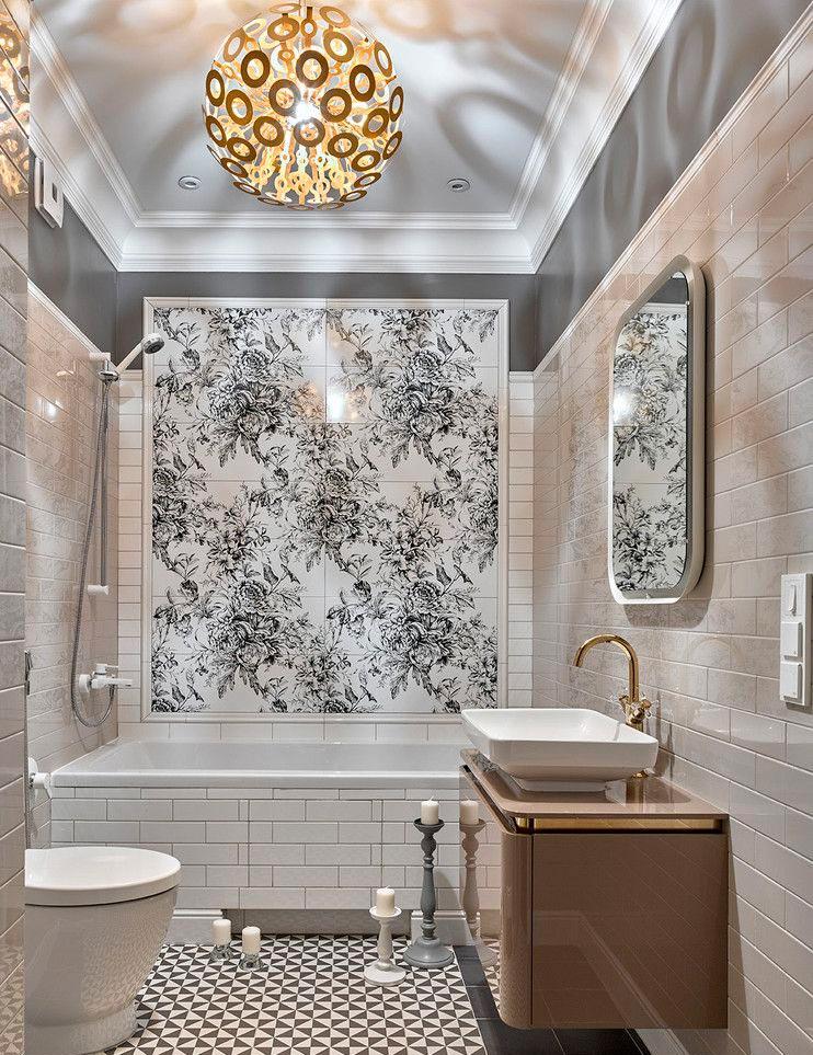 Другие варианты дизайна панно в ванной 25