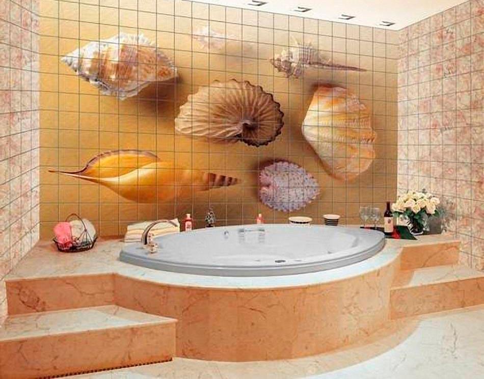 Другие варианты дизайна панно в ванной 28