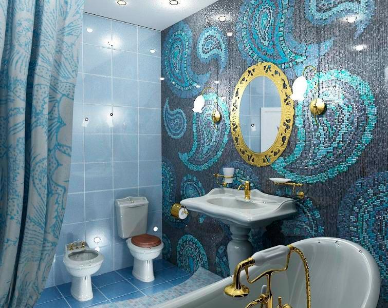Другие варианты дизайна панно в ванной 32