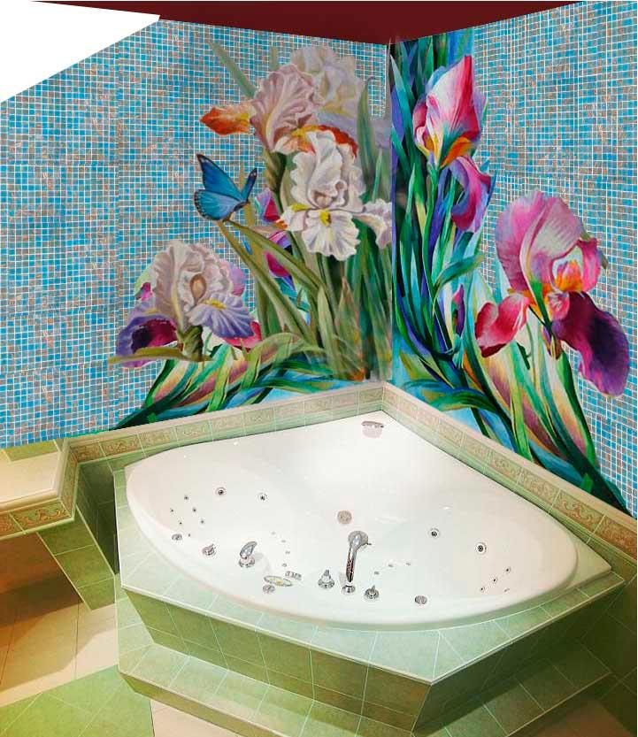Другие варианты дизайна панно в ванной 33