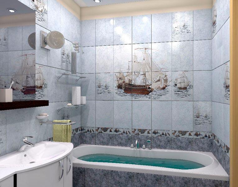Другие варианты дизайна панно в ванной 34