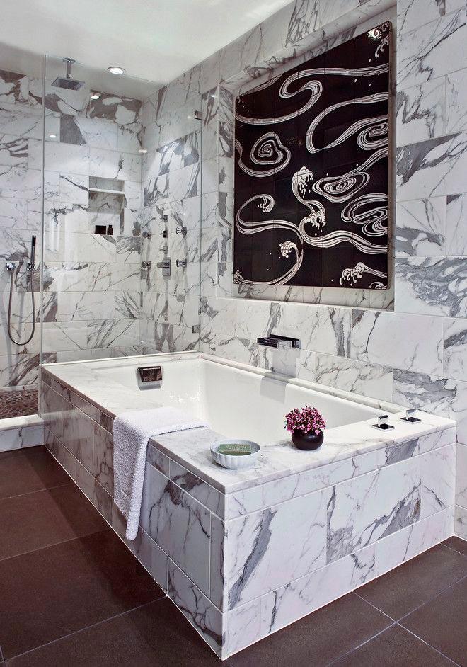Другие варианты дизайна панно в ванной 35