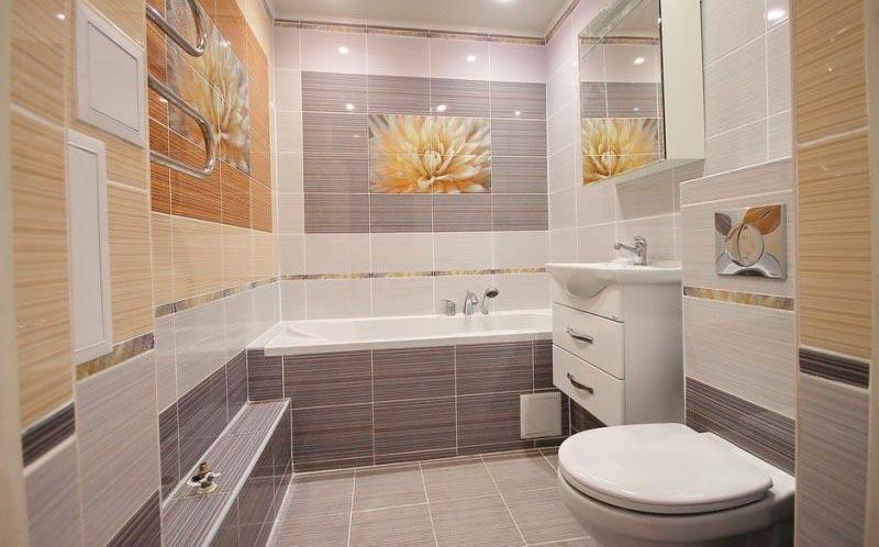 Другие варианты дизайна панно в ванной 38