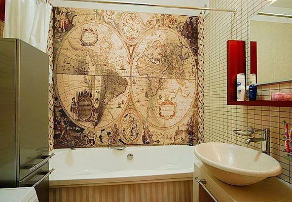 Другие варианты дизайна панно в ванной 39