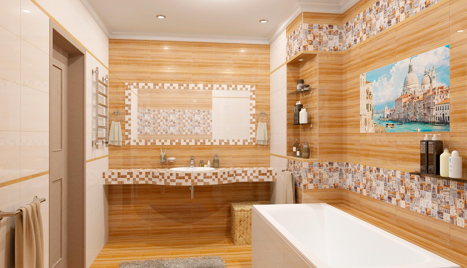 Другие варианты дизайна панно в ванной 46