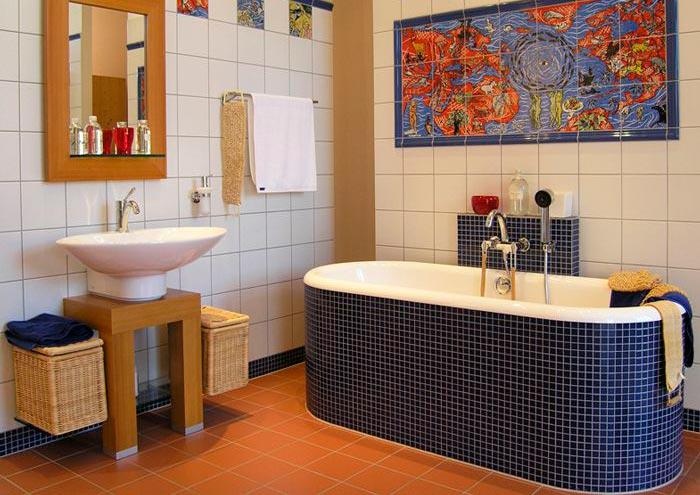 Другие варианты дизайна панно в ванной 5
