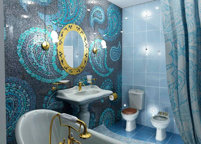 Другие варианты дизайна панно в ванной 51
