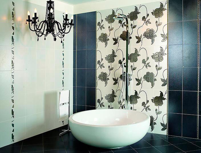 Другие варианты дизайна панно в ванной 52