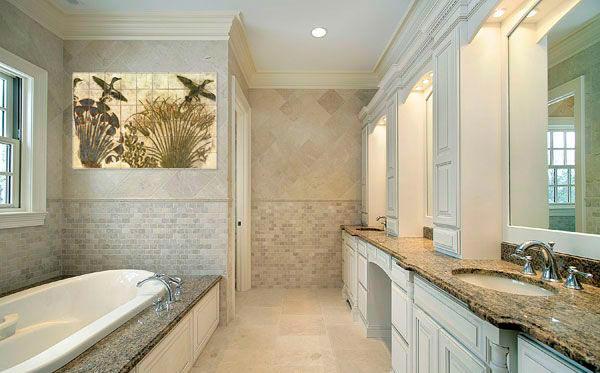 Другие варианты дизайна панно в ванной 53