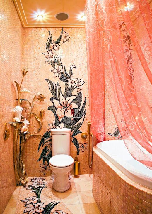 Другие варианты дизайна панно в ванной 57