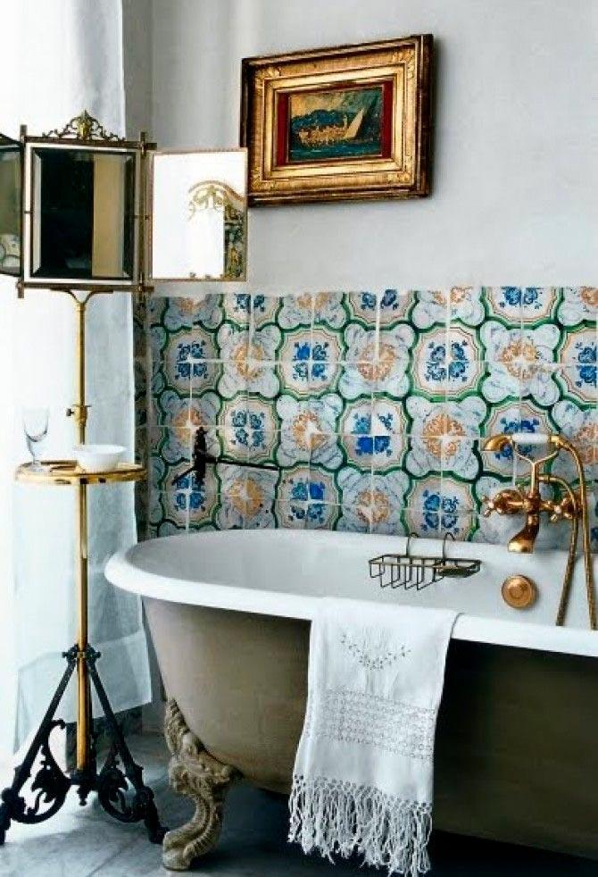 Другие варианты дизайна панно в ванной 58