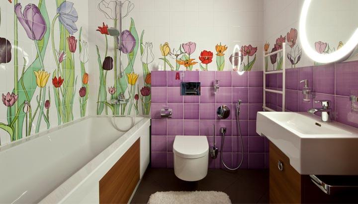 Другие варианты дизайна панно в ванной 59