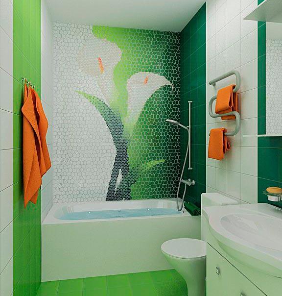 Другие варианты дизайна панно в ванной 60