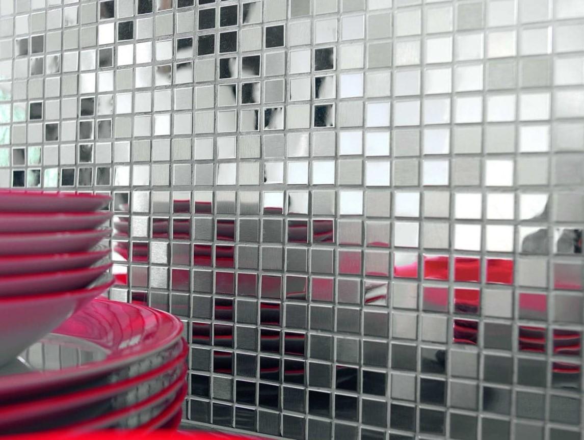 фигурная зеркальная плитка мозаика