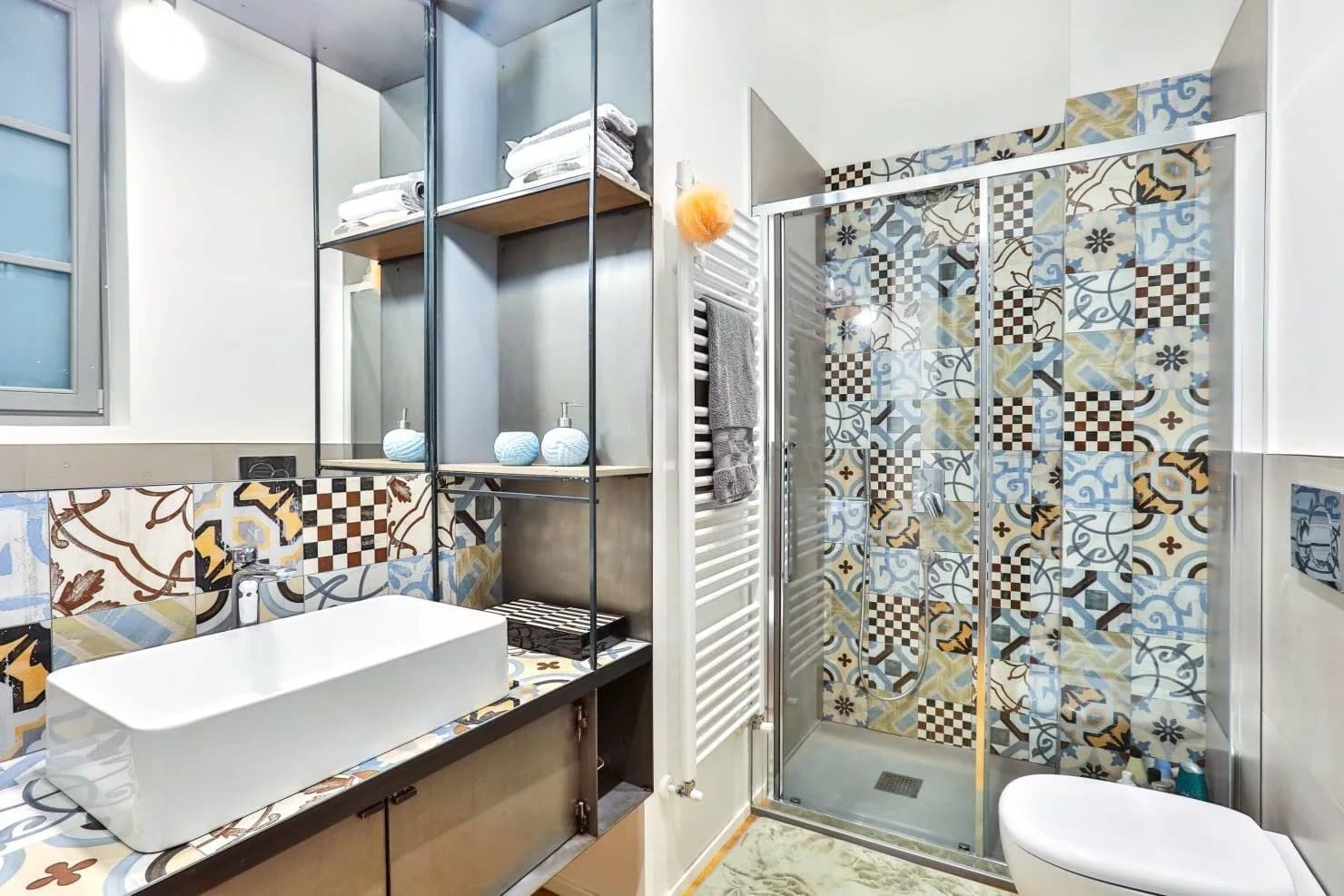 фото плитка пэчворк в ванной