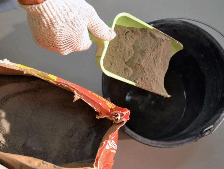 изготовление плиточного клея из глины-пропорции