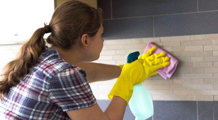 как отмыть плитку на кухне от жира-советы