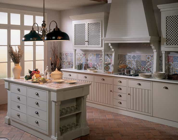 Плитка пэчворк для разных стилей на кухне
