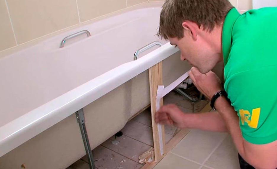 как установить ванную под плитку-советы